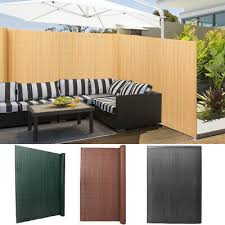 Pvc Garden Fence Balcony Bamboo Yellow Privacy Screen Fencing Panels Wall Cover 15 95 Picclick Uk
