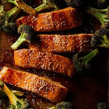 Ginger Roasted Salmon & Broccoli Recipe ...