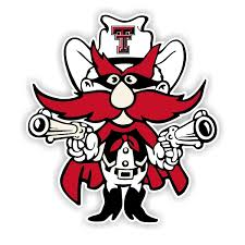 Texas Tech Red Raiders 12 Die Cut Vinyl Decal Sticker 1
