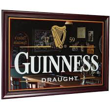 guinness 39 5 x 27 5 bar mirror in