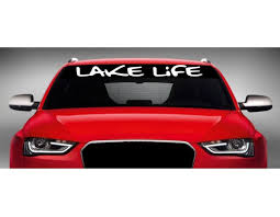 Lake Life Surfing Vinyl Decal Party Boat Sticker Fishing Summer Fish Car Auto Hargeisait Com