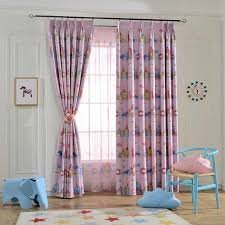 Pink Purple Cartoon Curtains Girl Princess Children Kids Room Tulle Curtains For Windows Bedroom Drapes Curtains Aliexpress