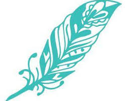 Feather Vinyl Decal Etsy