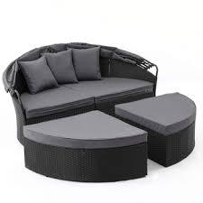 rattan round outdoor furniture lounge