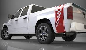 Product 1500 2500 3500 Truck Bed Side Stripe Checkered Flag Dodge Decal Sticker Ds016a