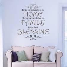 Home Family Blessing Love Wall Art Christian Vinyl Decor Wall Decal