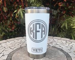 Personalized 20oz Yeti Vinyl Decal Initially Yours