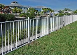 27 Best Inspiring White Aluminum Fence Ideas And Designs A Fence Is Definitely One Of The Must Installed Additions To Eve Aluminum Fence Outdoor Fence Design