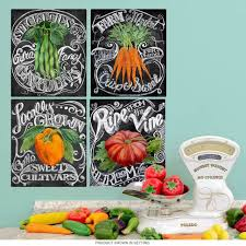 Vegetables Farm Chalkboard Style Wall Decal Set At Retro Planet