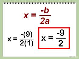 find the vertex of a quadratic equation