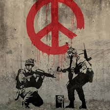 Banksy Soldiers Peace Vinyl Decal Bumper Wall Laptop Window Sticker 5 Accessories Decals Magnets Stickers