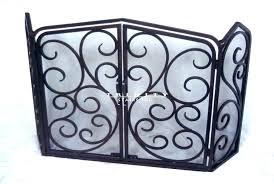wrought iron fireplace screens