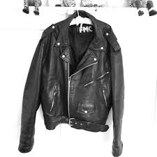 genuine leather biker jacket xl