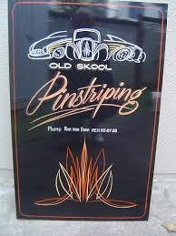 brush lettering pinstriping custom