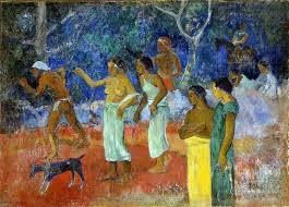 Paul Gauguin Scenes From Tahitian Live Wall Decal Traditional Wall Decals By Art Megamart