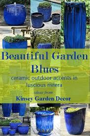 tall blue planter eeneale co