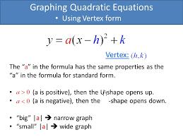 graphing quadratic equations using
