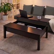 ikea trulstorp black brown coffee table