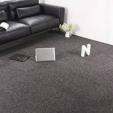 Carpet Tiles Commercial Carpet Tiles Carpet Floor Tiles Carpet Tile 20x20inch For Bedrooms Living Rooms Kids Rooms Office Decor With Anti Slip Asphalt Bottom Backing Dark Grey 32tiles Amazon Com