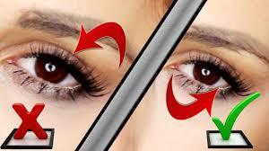 how to apply false eyelashes underneath