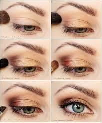 diy bronze eye makeup tutorial pictures
