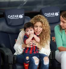 shakira watches soccer with her family