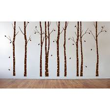 Innovative Stencils Birch Tree Forest Branches Wall Decal Reviews Wayfair