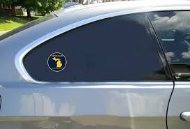 Michigan The Wolverine State Circle Sticker U S Custom Stickers