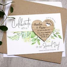 date cards foliage wedding magnets