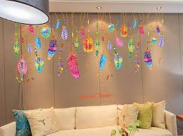 Colorful Feathers Pendant Wall Decal Sticker Unique Kids Room Bedroom Living Room Wall Decor Poster Wallpaper Graphic Home Decals For Decoration Home Decals Walls From Magicforwall 1 86 Dhgate Com