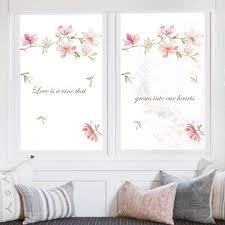 Amazon Com Decalmile Pink Flower Wall Decals Magnolia Floral Wall Stickers Girls Bedroom Living Room Door Tv Wall Decor Furniture Decor