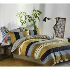 reversible striped bedding set sheet