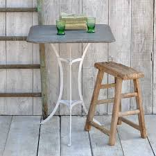 square zinc topped garden table home