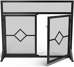 crannog modern large fireplace screen