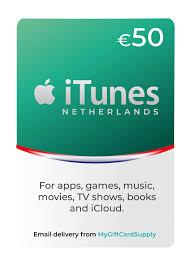 netherlands itunes gift card