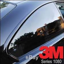 3m 1080 Metallic Black Gloss Vinyl Vehicle Decal Car Wrap Film Sheet Roll