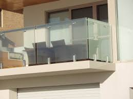 frameless glass balcony railing 304s