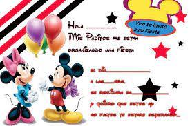Invitaciones De Cumpleanos Mickey Mouse En Hd Gratis Para Desc