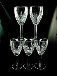 vintage young white wine glasses