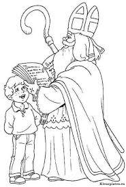 Sinterklaas Leest Uit Zijn Grote Rode Boek Kleurplaat