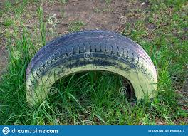 Painted Tires The Second Life Of Rubber Tires Stock Photo Image Of Automobile Colourful 182130014