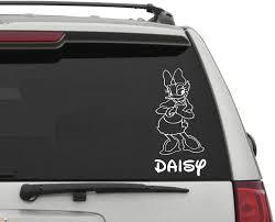 Amazon Com Artstickerscool Daisy Car Decal Disney Car Decal Daisy Duck Decal Disney Decor Disney Character Decal Donald Daisy Decal Nursery Decor Home Kitchen