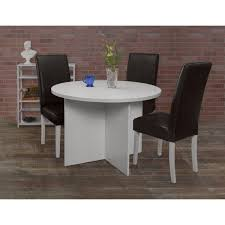 Niche Tyler White Wood Grain Plush Vinyl Dining Room Chair N6000bkwh The Home Depot