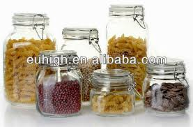 glass jar with sealed lids