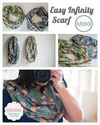 easy diy infinity scarf with just a