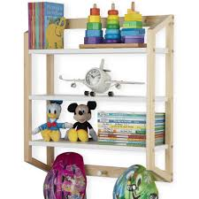 Utah 3 Tier Floating Shelves With 3 Hooks For Nursery And Kids Room