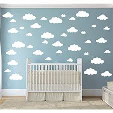 Amazon Com 31 Pcs Mix Size 4 10 Inch White Clouds Wall Decal Sticker For Kids Bedroom Decor Diy Home Decor Vinyl Clouds Mural Baby Nursery Room Wallpaper Art Wall Decoration Poster Yyu 14 White