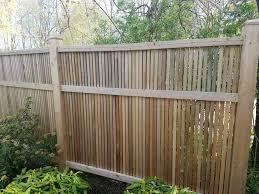 Custom Cedar Fence Semi Private Wood Fence Saugatuck Straight Line Fence