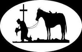 Amazon Com Cowboy Pray Horse Euro Christian Cross Religious Vinyl Window Decal Sticker Sports Outdoors