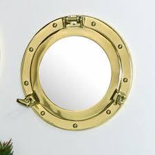 wall mirror hanging rope metal frame